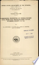 Carbonizing Properties of Powellton-bed Coal from Coal Mountain Mine, Guyan, Wyoming County, W. Va