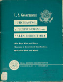 U S  Government Purchasing  Specifications  and Sales Directory