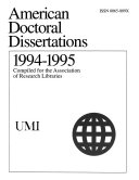 American Doctoral Dissertations Book PDF