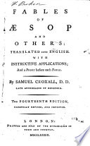 The Fables Of Aesop With Instructive Applications By Samuel Croxall [Pdf/ePub] eBook