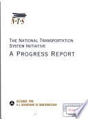 Progress Report on the National Transportation System Initiative