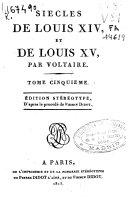 Siecle de Louis XIV et de Louis XV