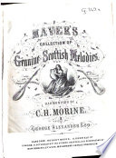 Maver s Collection of Genuine Scottish Melodies Book
