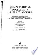 Computational Problems in Abstract Algebra