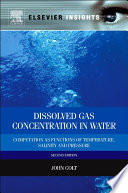 Dissolved Gas Concentration in Water Book