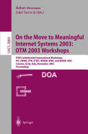 On The Move to Meaningful Internet Systems 2003  OTM 2003 Workshops