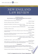 New England Law Review Volume 48 Number 3 Spring 2014