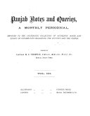 Indian Notes and Queries