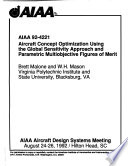 AIAA Aircraft Design Systems Meeting: 92-4221 - 92-4250