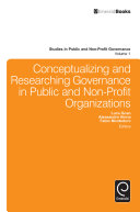 Conceptualizing and Researching Governance in Public and Non-Profit Organizations Pdf/ePub eBook