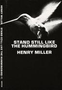 Stand Still Like the Hummingbird [Pdf/ePub] eBook