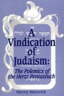 A Vindication of Judaism