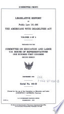 Legislative History of Public Law 101 336  the Americans with Disabilities Act