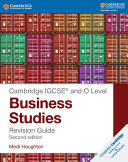 IGCSE   and O Level Business Studies Revision Guide