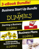 Pdf Business Start Up For Dummies Three e-book Bundle: Starting a Business For Dummies, Business Plans For Dummies, Understanding Business Accounting For Dummies Telecharger