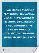 Trace Organic Analysis Book