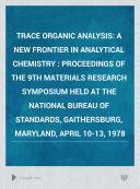 Trace Organic Analysis