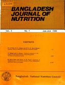 Bangladesh Journal of Nutrition