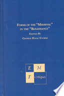 Forms of the  medieval  in the  Renaissance  Book