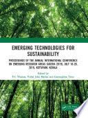 Emerging Technologies for Sustainability