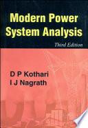 Modern Power System Analysis Book PDF