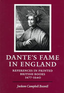 Dante s Fame in England