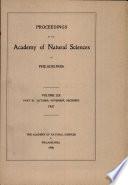 Proceedings Of The Academy Of Natural Sciences Vol Liix Part Iii Oct Nov Dec 1907