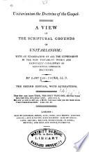 Unitarianism the Doctrine of the Gospel
