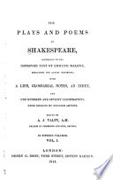 The Plays and Poems of Shakespeare,