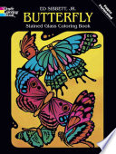 Butterfly Stained Glass Coloring Book