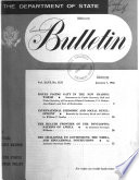 The Department Of State Bulletin