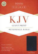 KJV Giant Print Reference Bible  Black Genuine Leather
