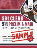 (Free Sample) SBI Clerk 9 Year-wise Prelim & Main Solved Papers (2020 - 09) 2nd Edition Pdf/ePub eBook