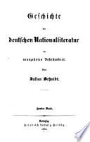Geschichte der deutschen Nationalliteratur im neunzehnten Jahrhundert
