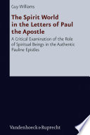 The Spirit World in the Letters of Paul the Apostle Pdf/ePub eBook