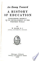 An Essay Toward a History of Education
