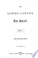 The Lower Canada Law Journal