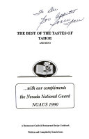 The Best of the Tastes of Tahoe Book