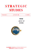 Strategic Studies A Quarterly Journal Of The Institute Of Strategic Studies Islamabad