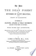 The Laws of the Dean Forest and Hundred of Saint Briavels  in the County of Gloucester