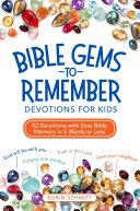 Bible Gems to Remember Devotions for Kids Pdf/ePub eBook