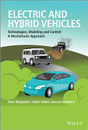 Electric And Hybrid Vehicles Book PDF