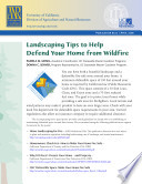 Landscaping Tips To Help Defend Your Home From Wildfire Book PDF