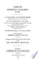A Collection of English Words Not Generally Used  with Their Significations and Original Book