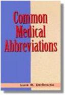 Common Medical Abbreviations