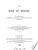 The book of houses, by the author of 'Wonders of the sea shore'.