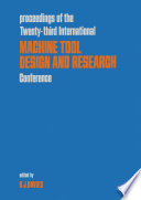 Machine Tool Design and Research