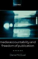 Media Accountability and Freedom of Publication