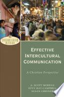 Effective Intercultural Communication (Encountering Mission)