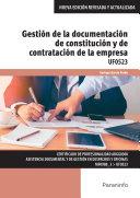 Gestión de la documentación de constitución y de contratación de la empresa